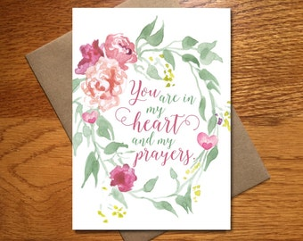 Every Day Spirit / Watercolor Sympathy Card / Floral Encouragement Card / Beautiful Prayer Card / Pretty Get Well Card
