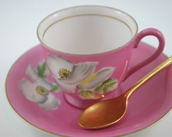 Demitasse Cup & Saucer made in Occupied Japan in 1940s.