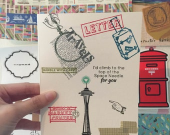 Seattle Greeting Card by Ashhdesign