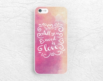 All you need is LOVE Life quote phone case for iPhone 7, LG G5, Nexus 5X, Samsung Note 5, HTC One M9, Moto X x2 Moto G, Sony Z5 compact -Q8