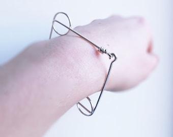 Geometrical Silver Bracelet