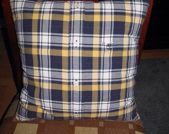Custom made t-shirt/button-up pillow