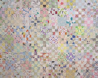 Low  Volume 9-Patch Baby Quilt