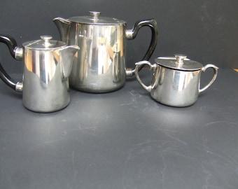 Unusual Art Deco or Vintage silver plate part tea set.
