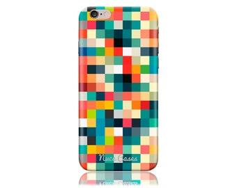 HTC M10 Case #Pixel Cubes Cool Design Hard Phone Case