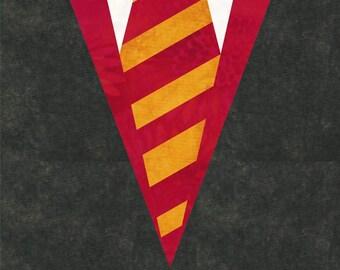 Hogwarts Gryffindor Uniform Robes - Harry Potter - House Colors - Quilt Block Pattern - Foundation Paper Piece Patch - PDF Download