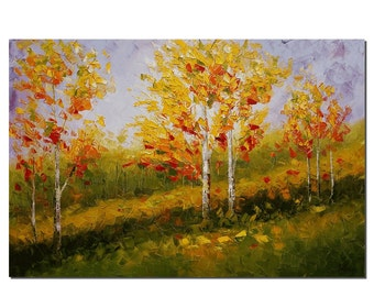 Canvas Art, Wall Art, Tree Painting, Landscape Painting, Wall Art, Abstract Art, Oil Painting, Oil Painting, Abstract Painting, Large Art