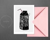 Postkarte Toleranz / Milch, Laktose, Anfang, Karte, Grusskarte, Briefumschlag, Geschenk, Botschaft, Brief