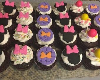 12 mouse theme cupcake toppers