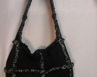 Black denim purse/tote