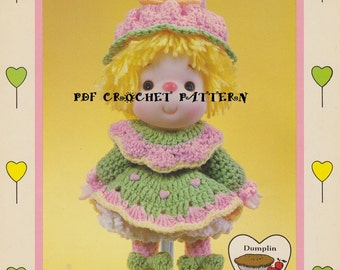 """Lollipop Lane """"Bubble Gum,"""" Instant Download, Vintage Crochet PDF Pattern"""