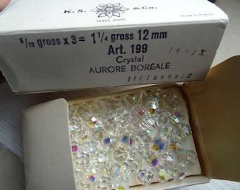 Swarovski vintage ks & co 180 cristaux 12mm Crystal AB