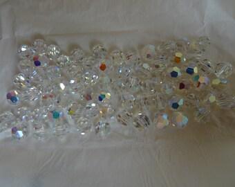 Swarovski vintage ds & co - 72 crystals 8 mm - Crystal AB