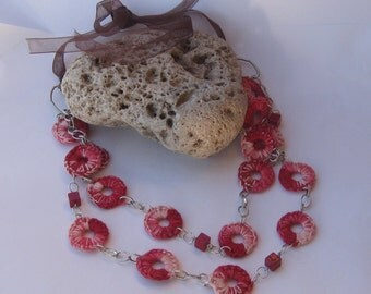 Red rings crochetsui necklace