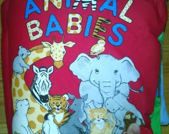 Animal Babies Cloth Book    BK150093