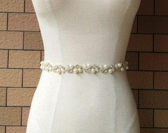 Bridal Belt, Pearl Belt, Bridesmaid Belt,Wedding Belt,Crystal Sash Belt, Sash Belt, Wedding Sash, Bridal Sash, Bridal Sash Belt 580