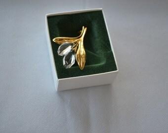 Vintage Swarovski brooch in the shape of flower/crystal brooch/vintage crystal brooch/flower brooch/swarovski brooch/an.128