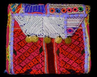 Vintage Banjara Gypsy Tribal Clutch Bag Purse W/Shoulder Strap n3