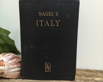 1949 Italy Travel Guide Book Handbook for Travelers Italian Touring Club Nagel's Guide Books Vintage Antique Color Maps Printed in France