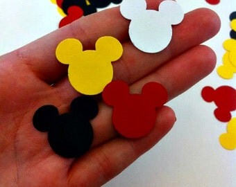 100 Mickey Mouse Confetti - Die Cuts - Party Supplies - Table Decorations