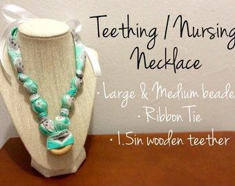 Nursing Teething Necklace - Teal