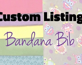 Custom bandana Bib