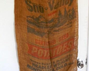 Vintage burlap sack