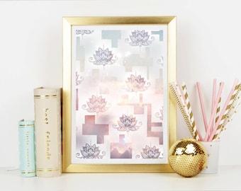 Lotus Mandala Art Print - Home Decor - Spiritual Art - Art Print