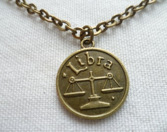 Libra necklace,zodiac jewellery,libra jewelry,zodiac necklace,astrology birthday gift,horoscope,star sign jewellery,handmade,libra pendant