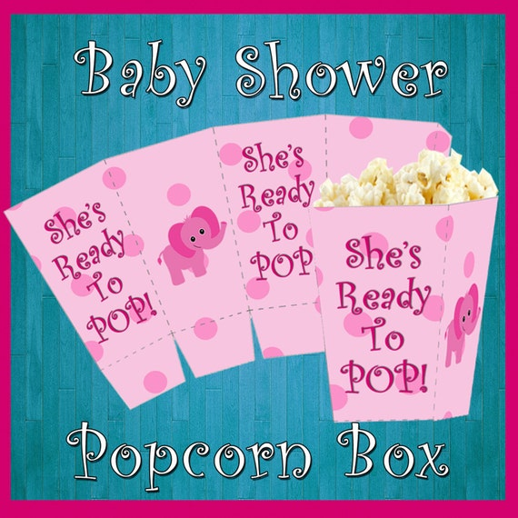 baby shower popcorn box printable party it 39 s a girl popcorn box she