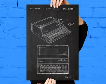 Apple Computer Patent, Apple Computer Poster, Apple Computer Print, Apple Computer Art, Apple Computer Decor, Apple Computer Blueprint