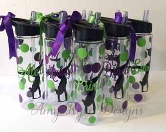 10 Gymnastics Tritan Water Bottles, Gymnastics Water Bottle, Custom Gymnastics Bottle, Gymnastics Team Gift, Gymnastics Gift