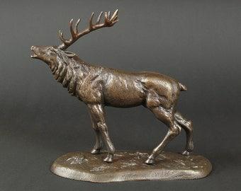 Deer Sculpture. Deer Statue, Deer Sculpture, Desk Decor, Desk Accesories, Table Decor, Brass Statue, Office Statue, Bronze Deer