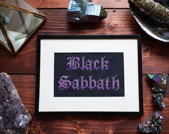 Black Sabbath Cross Stitch