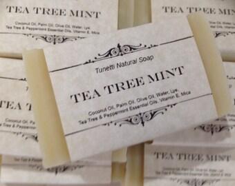 Tea Tree Mint Natural Homemade Soap