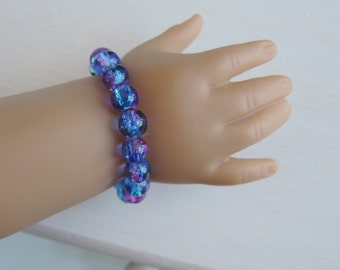 Galaxy Beaded Bracelet for American Girl Dolls and other 18 inch dolls