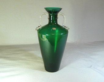 Glass vase vintage