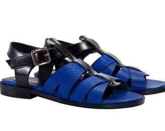 Mora Azul Strappy Sandals