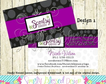 APPROVED VENDOR -Scentsy Double Sided Business Card DIY- By: SimplyBlessedDesign