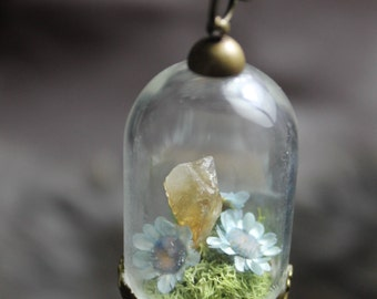 Citrine Terrarium Necklace