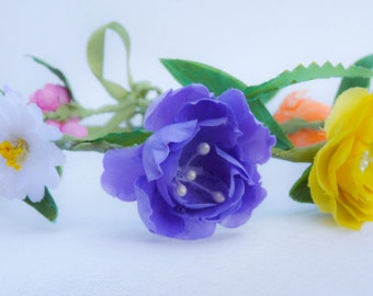 Handmade Floral Crown,  Flower Headband, Floral Head Wreath, Wedding Headband, Bridesmaid Flower Crown, Flower Girls Flower Crown