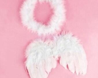 Baby angel wings. Adorable newborn photo prop.