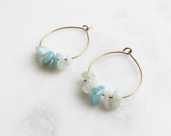 CA earrings Amazonite