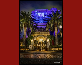 The Twilight Zone Tower of Terror DCA Disneyland Disney California Adventure, Metallic Paper  / Metal Print