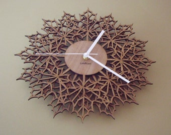 "Wooden wall clock ""MAPLE LEAFS Double"""