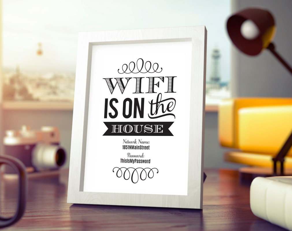 Wifi Password Printable Wifi Password Sign Internet Sign