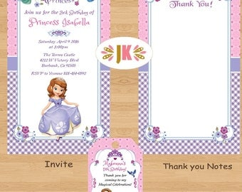 Sofia the FIrst Printed Invitations * Come Party With Us *