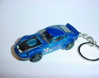 3D Datsun/Nissan 280Z custom keychain by Brian Thornton keyring key chain finished in blue color trim fairlady z nismo