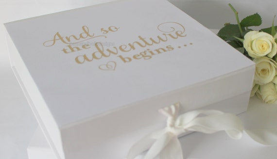 Keepsake Wedding Gifts: Wedding Keepsake Gift Box And So The Adventure Begins
