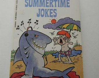 "Summer jokes, Vintage Children's Joke Book, ""101 Silly Summertime Jokes"",  Paper Ephemera"